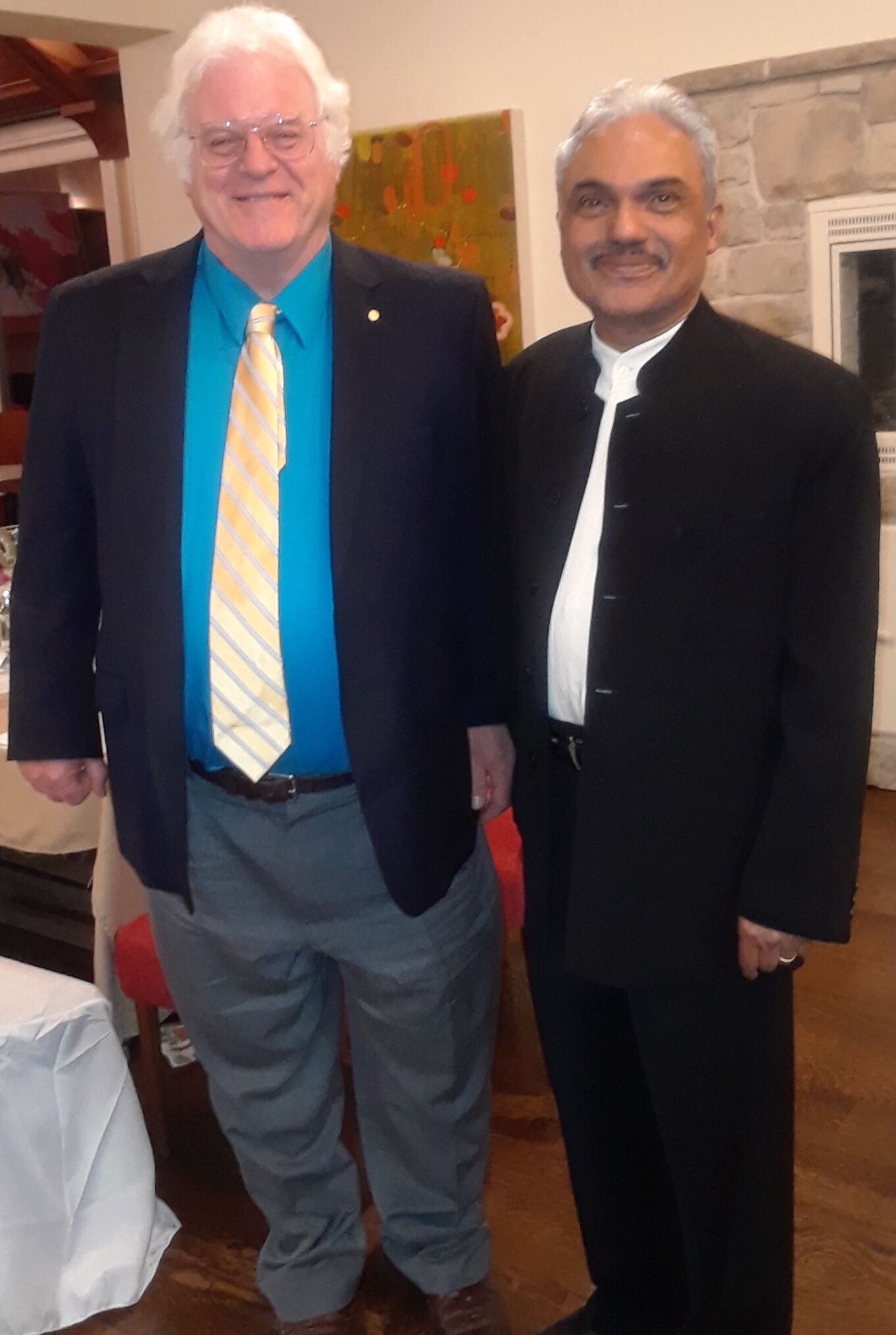 Photo: George Pinto with Nobel Prize winner Prof. Robert Laughlin (Physics, 1998)