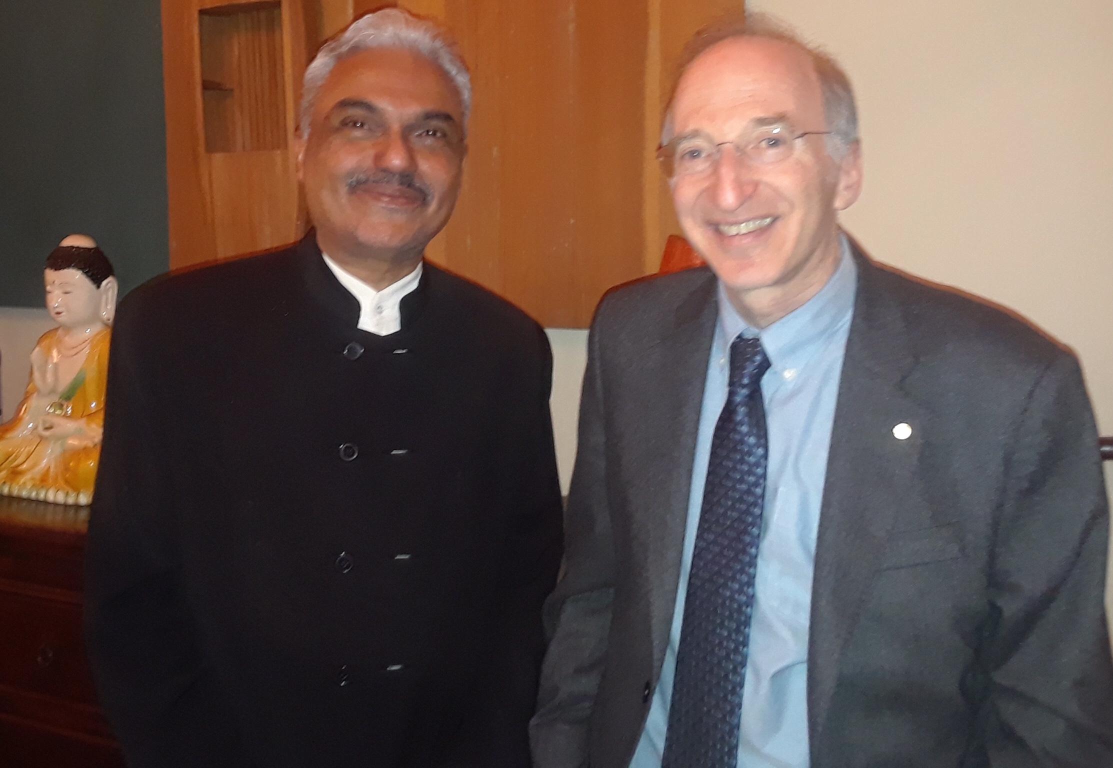 Photo: George Pinto with Nobel Prize winner Prof. Brian Kobilka (Chemistry, 2012)